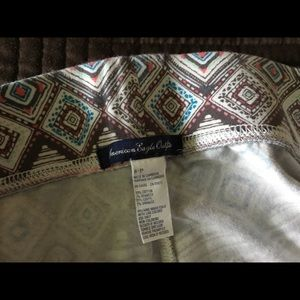 American Eagle Outfitters Pants - AEO leggings with an exotic pattern in great shape